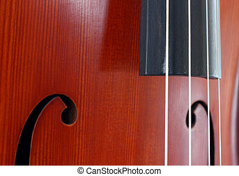 Cello close up - Close up view of a classic wooden cello...