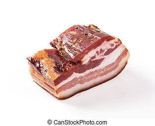 Bacon - Smoked bacon isolated on white