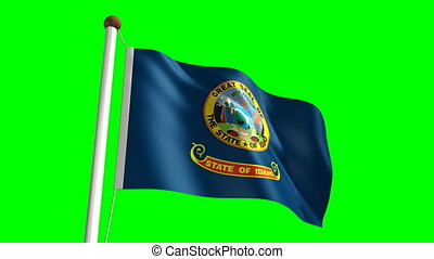 Idaho flag (with green screen)
