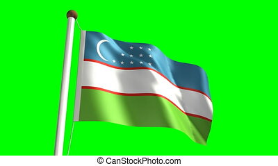 Uzbekistan flag (with green screen)