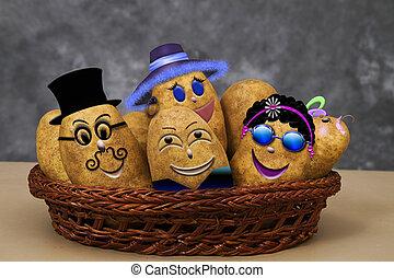 Zany Potato Family