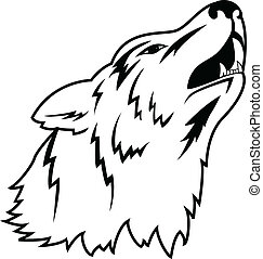 Wolf tattoo - Vector illustration of wolf tattoo
