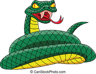 Angry green turtle - Vector illustration of Angry green...