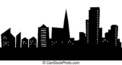 Cartoon Reykjavik - Cartoon skyline silhouette of the city...