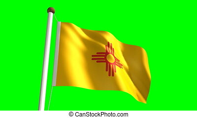 New Mexico flag (with green screen)