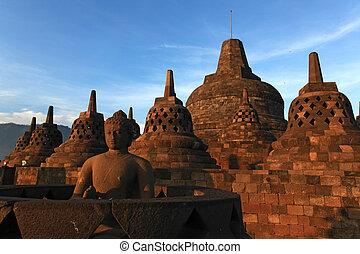 Buddha Statue at Borobudur
