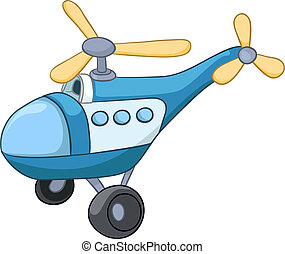 Cartoon Helicopter - Cartoon Illustration Helicopter...