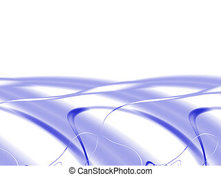 abstract, made from the ribbons and waves of blue colors on a white background