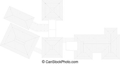 Tile Roof Vector