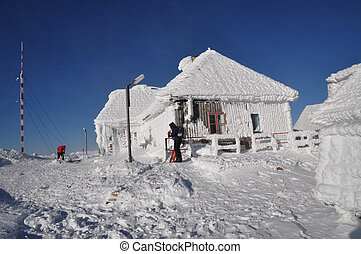 Ice-covered meteorological station - An ice-covered...