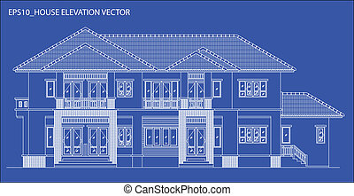 elevation house vector - elevation house drawing...