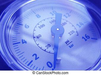 Pressure Gauge - Full frame close up pressure gauge