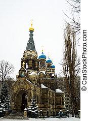Church of St. Simeon Divnogorsk in Dresden. Architect JG von...