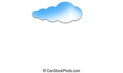 Cloud Computing Cloud Animation - Cloud moves into screen...