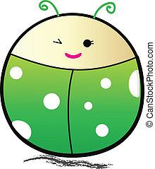Ladybird cartoon - Vector illustration.