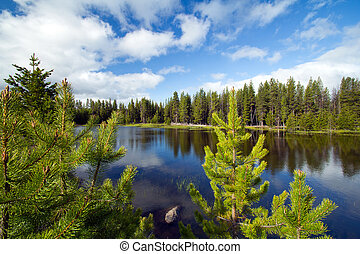 Peaceful Mountain Lake - Peaceful mountain lake in Central...