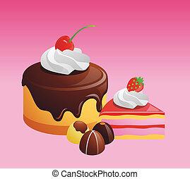 cake illustration - Vector,EPS10