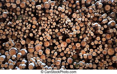 log heap