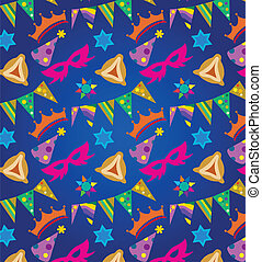 Purim background , jewish holiday; vector illustration