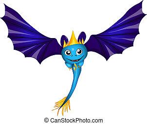cute bat dragon. vector illustration eps 10