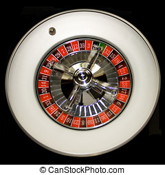 Ball is rolling on a roulette wheel