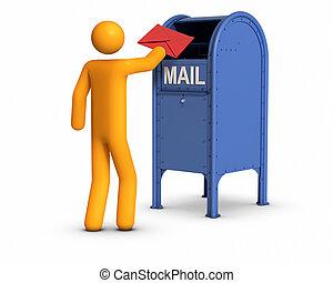 Sending  letter.