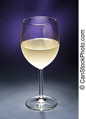 White Wine in front of beautiful background - White Wine in...