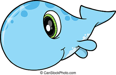 Cute Whale Vector Illustration