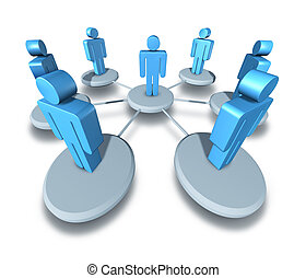 Teamwork business people gathering as a group with a central...