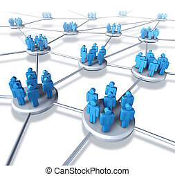 Team Communication - Team communication network with groups...