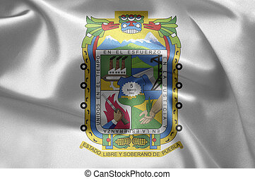 Puebla (Mexico) - Excellent vivid images of flags for you....