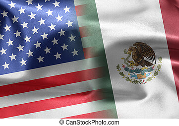 USA Mexico - Excellent vivid images of flags for you With...