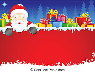 Santa & Gifts - Christmas background of Santa and Gifts....