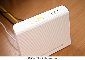 ADSL modem for home access to the global network