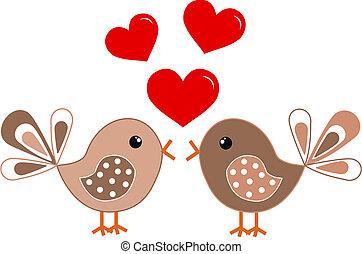 Valentines, día, o, cumpleaños