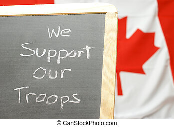 Support Our Troops - A handmade sign for supporting our...