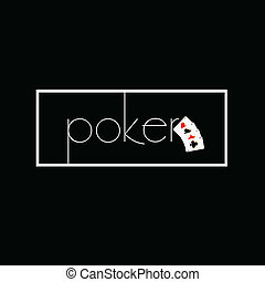 poker on black with card