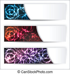Abstract banner set with plasma effect