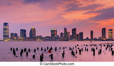 New Jersey - Exchange Place, New Jersey skyline