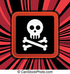 jolly roger - sign of jolly roger on curly background