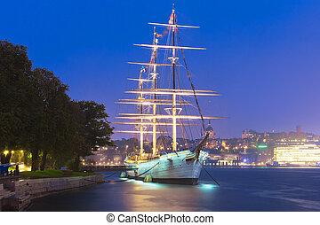 Historical ship ''AF Chapman'' in Stockholm, Sweden -...