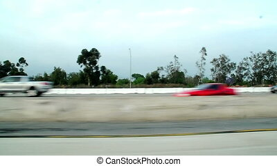 Freeway Driving Background
