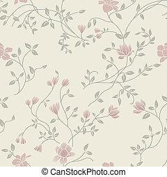 Floral vintage seamless pattern - Light floral vintage...