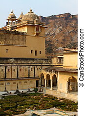Amber Fort in Jaipur in India.