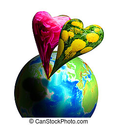 Bouyont or Float Flora Heart Above Global - Bouyont or Float...