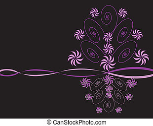 Purple Trees And Flowers Design