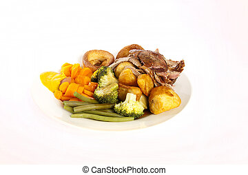 English roast dinner - A delicious English roast dinner with...