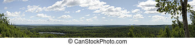 Lake Superior - Panoramic landscape of Lake Superior...