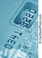 Credit card (blue toned)
