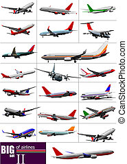 Big set of Airlines Vector illustration